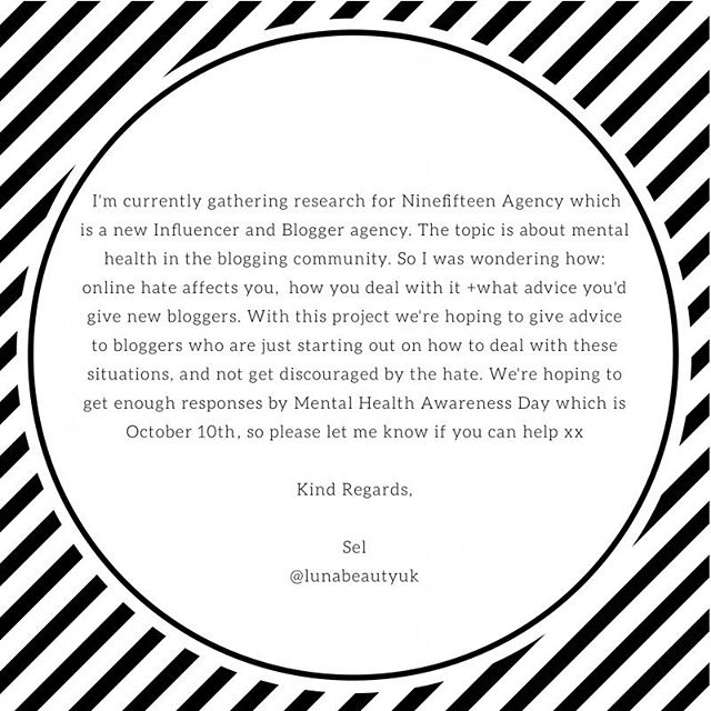 Hi Friends!!! I've already e-mailed + DM'd a couple of you but if anyone else is interested please let me know! All bloggers welcomed! Big or small ✨✨ #beautyblogger #londonbeautyblogger #skincare #beauty #wakeupandmakeup #londonbeautyblog #bbloggeruk #smallbeautyblogger #smallbeautyworld #lovemakeup #beautyproduct #beautyproductreview #london #girlboss #girlbossmagic #iamlatina #latinabeautyblogger #bloggerlatina #latinosinlondon #americansinlondon #londonblogger #blogger #bloggerlife #allbloggerswelcome