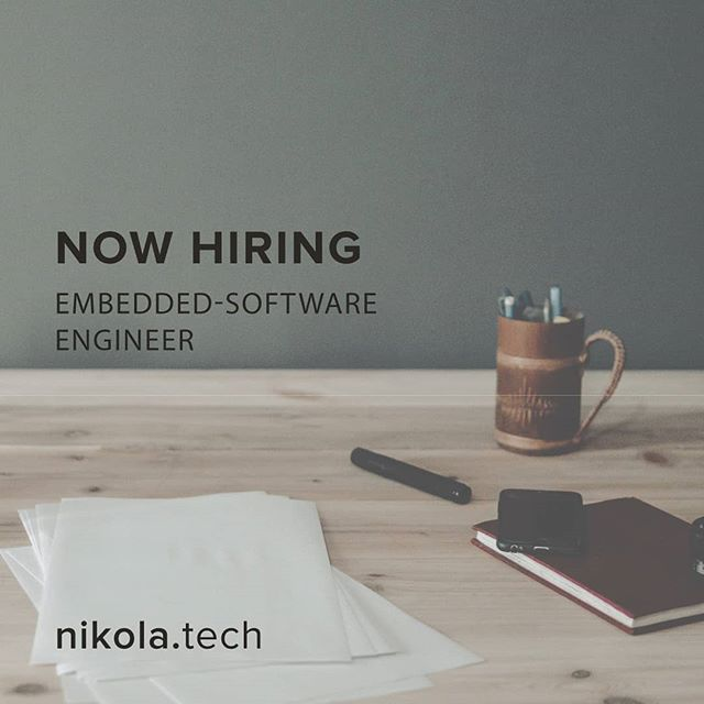 Come work for a rapidly growing #startup with big ambitions!  @nikolalabs is seeking an #embeddedsoftware #engineer to lead the design and development of a #product. Apply Today!