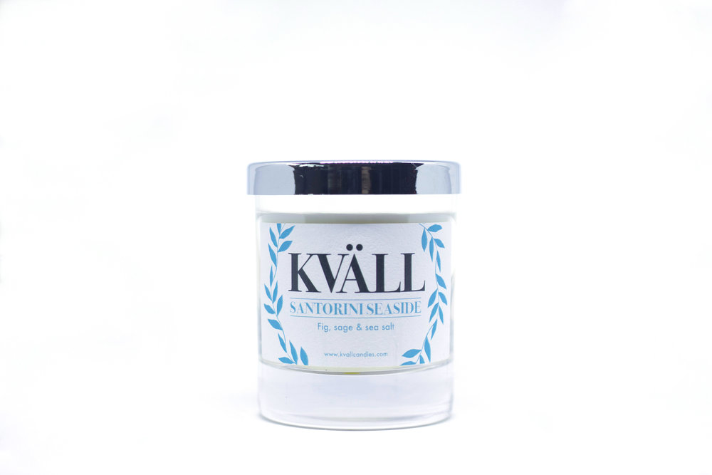 kvall candle santorini seaside