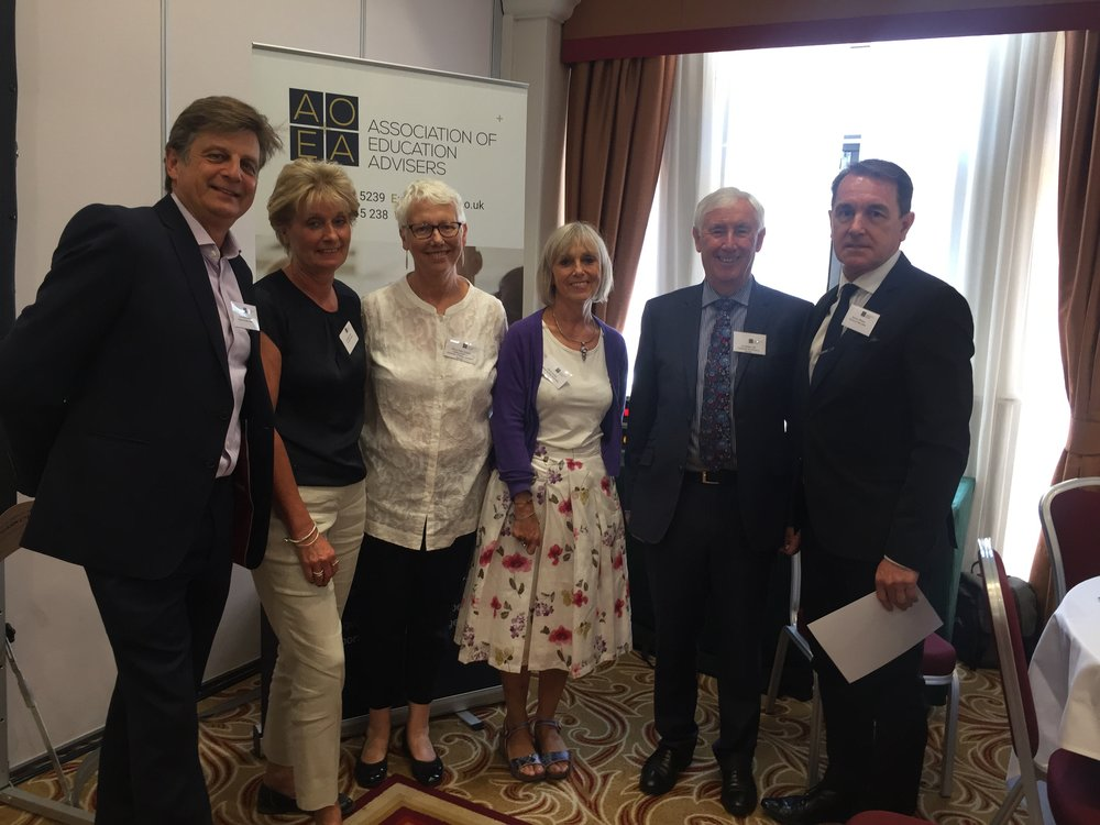 Association of Education Advisers. - Graduation day with the inspirational Les Walton CBE.