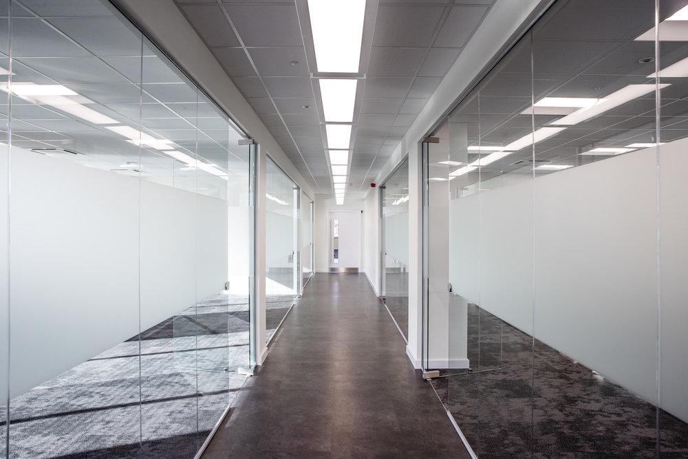 Interior view of the common corridor.