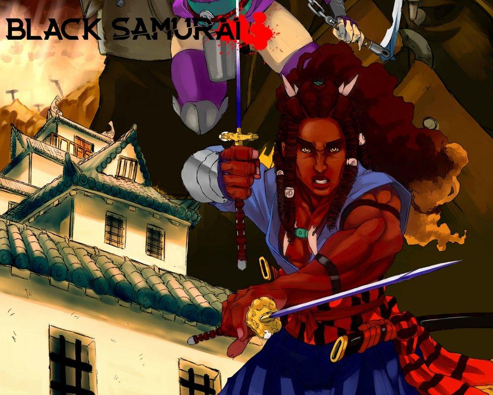 BLACK SAMURAI by Robert Burnhans and Alexander Oladokun is a historical fantasy seinen manga.