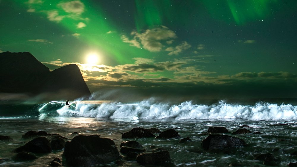 Surfing Northern Lights - With the ELB battery pack