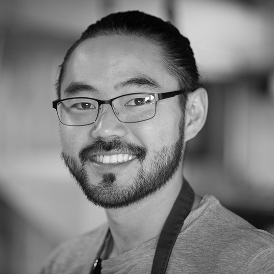 """KRIS KOMORI - 3-time James Beard Award nominated Chef, former Chef de Cuisine at State & Lemp, working on Boise's newest culinary adventure, KIN.""""No matter your demographic, your income level, or anything like that, you're sitting next to someone that's eating the exact same thing as you,"""" """"Any differences that you may have thought that you had, in this little bubble, you're just like the person next to you, and the person next to them."""" -Kris Komori, Idaho Press 3.14.18"""
