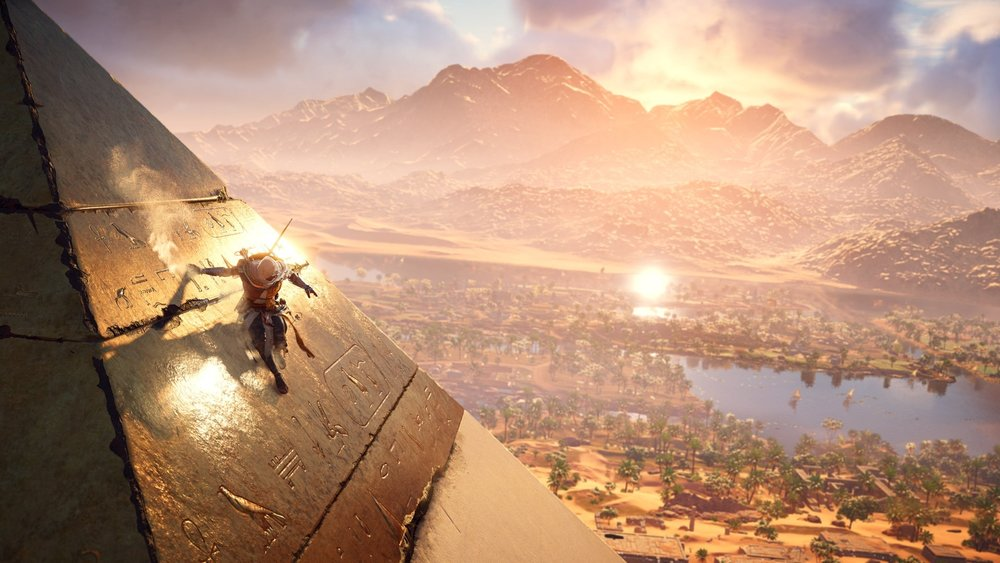 Virtually sliding down a pyramid is as fun as it seems, and is also surprisingly therapeutic. Another excellent surprise from Origins is the rich history of Egypt included in the primary campaign (Source: Gamespot).