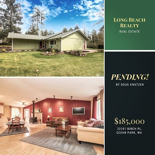 Pending listing in Sunset Sands. $185,000 MLS # 1259884 https://search.longbeachproperty.com/idx/details/listing/a045/1259884/22101-Birch-Place-Ocean-Park-WA-98640?widgetReferer=true #realestate #pending