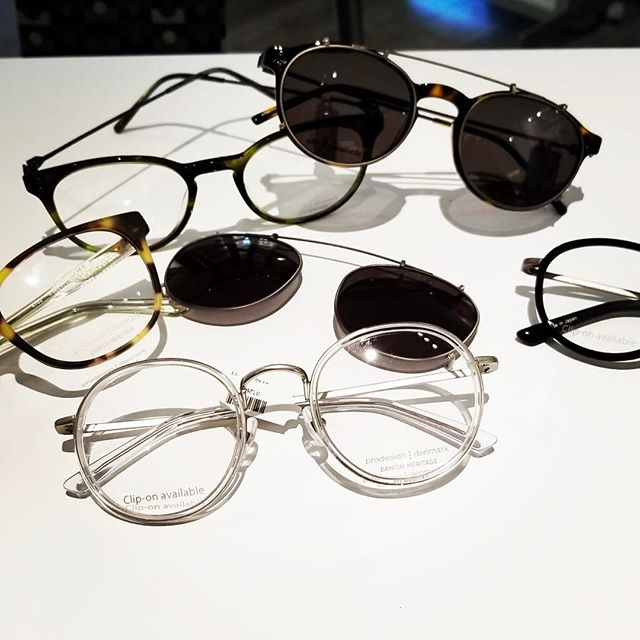 Danish Heritage collections from @prodesigndenmark. Available with clip on sunglass lenses so you can have your 🎂 and eat it too! #sunglasses #dcstyle #pikeandrose #letsgoshopping