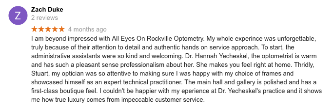 Best Eye Doctor in Rockville Review