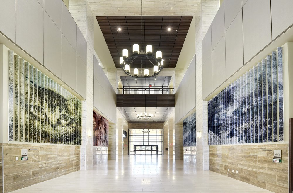 For the Texas A&M College of Veterinary Medicine & Biomedical Sciences designed by RE:Site Studio Direct Embed can serve as a durable and tactile graphic platform for a public art and exhibition project.
