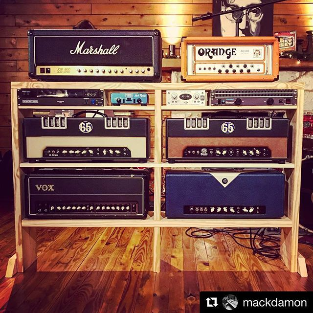 #Repost @mackdamon ・・・ Now that I have a new studio, it's time for a new tone tower.  The only thing missing is the @kheaudio switcher I'm ordering to switch all my heads and cabs. ITS EVERYTHING YOU WANT!  #studiolife #marshall #vox #65amps #orangeamps #dividedby13 #avalon #guitar #guitaramp #gearporn #recording #recordingstudio #mackdamon #stonecreeksound