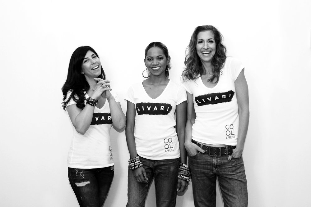 The LIVARI co-founders pictured from left to right: LIVARI co-founders Claudine DeSola, Tabitha St. Bernard-Jacobs and Alysia Reiner