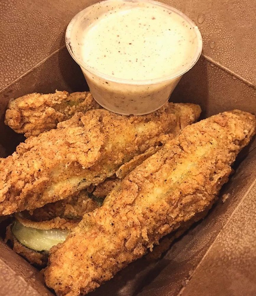 The fried pickles. Photo courtesy of  Toad Style