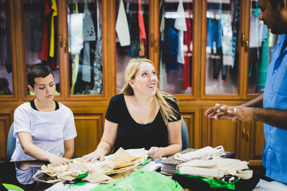 KTO founder Charlotte Instone working closely with her manufacturers.
