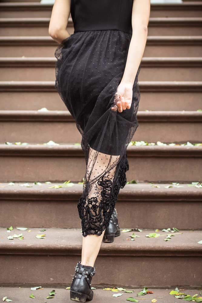 The Mabelle Maxi Dress combines a body constructed from 50% rPET from plastic bottles, and delicate French lace.