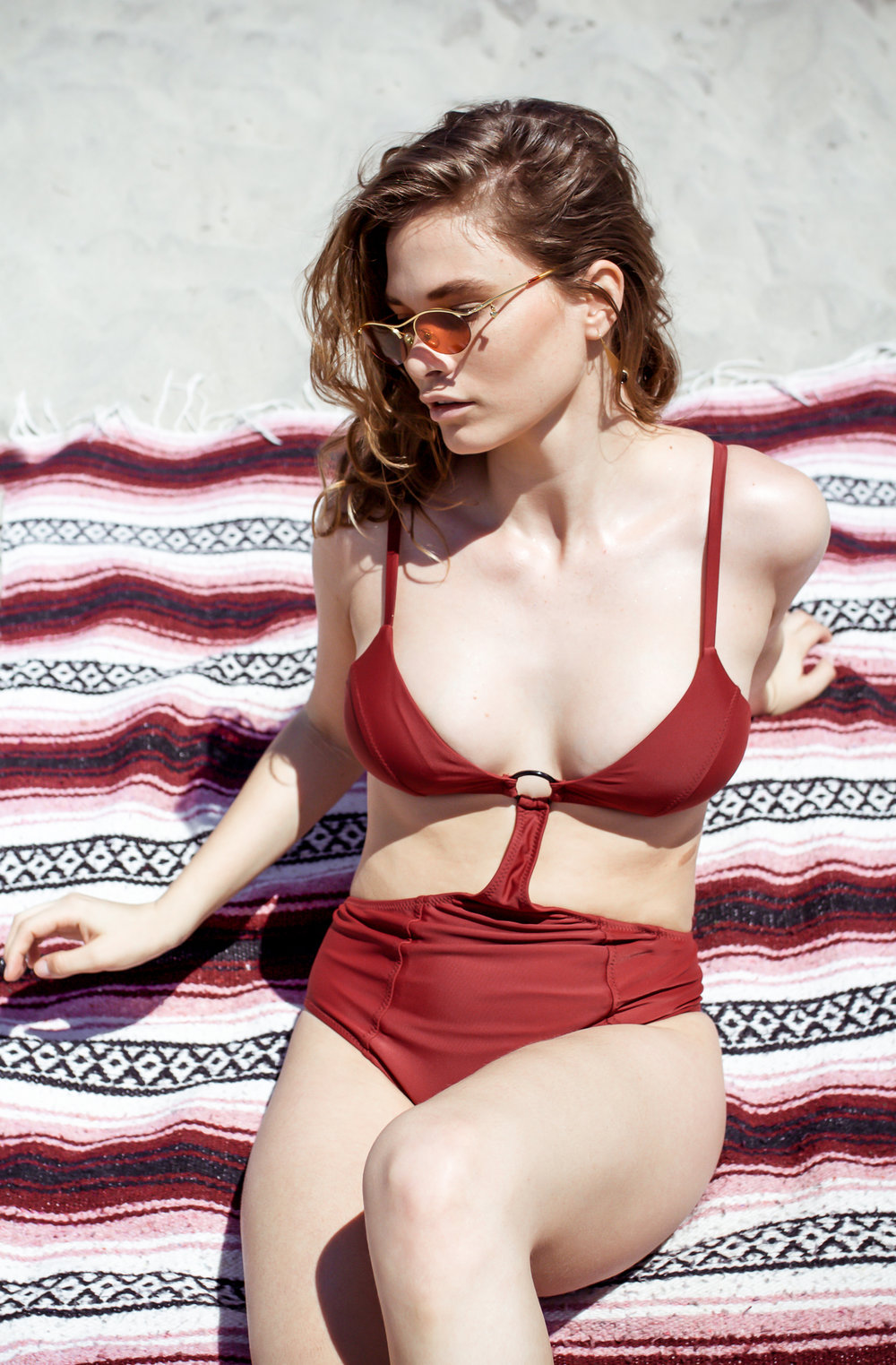 Galamaar Oh Margot! One-Piece ,  Tidal Pool Brooklyn Earrings