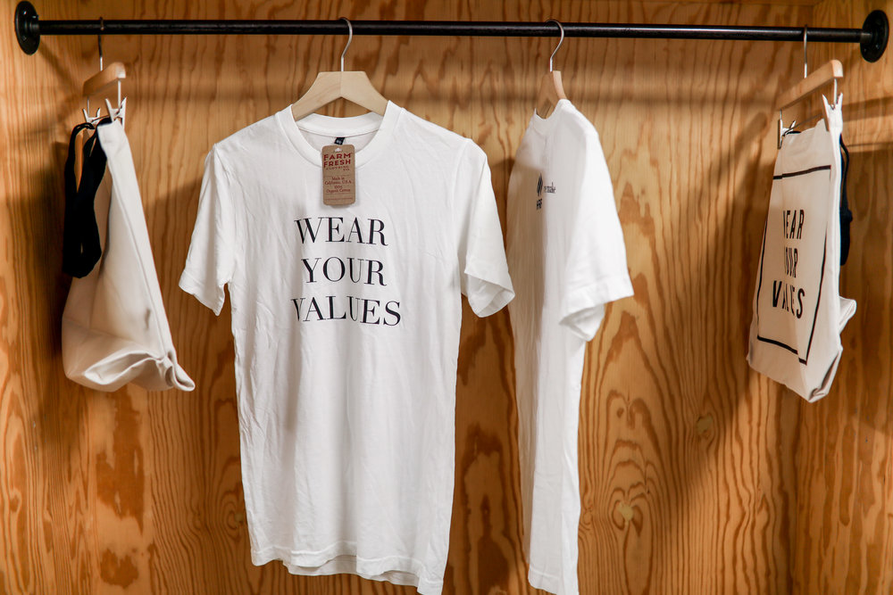 Wear Your Values  t-shirts made of organic cotton.