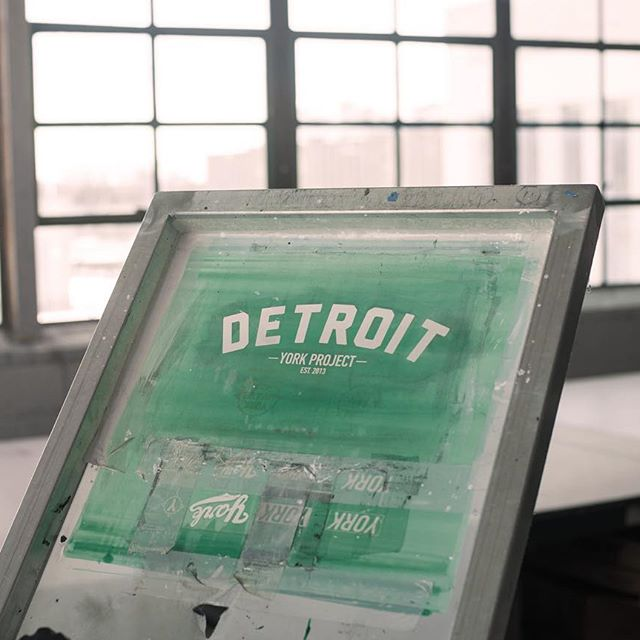 One of the screens used for screen printing at York Project's workspace in Detroit. (Photo courtesy of  Clark Bishop )