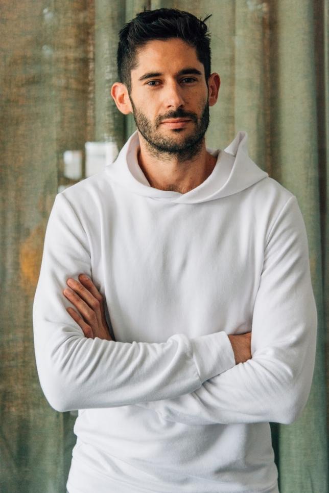 Softwear  Men's hoodie in Bone.