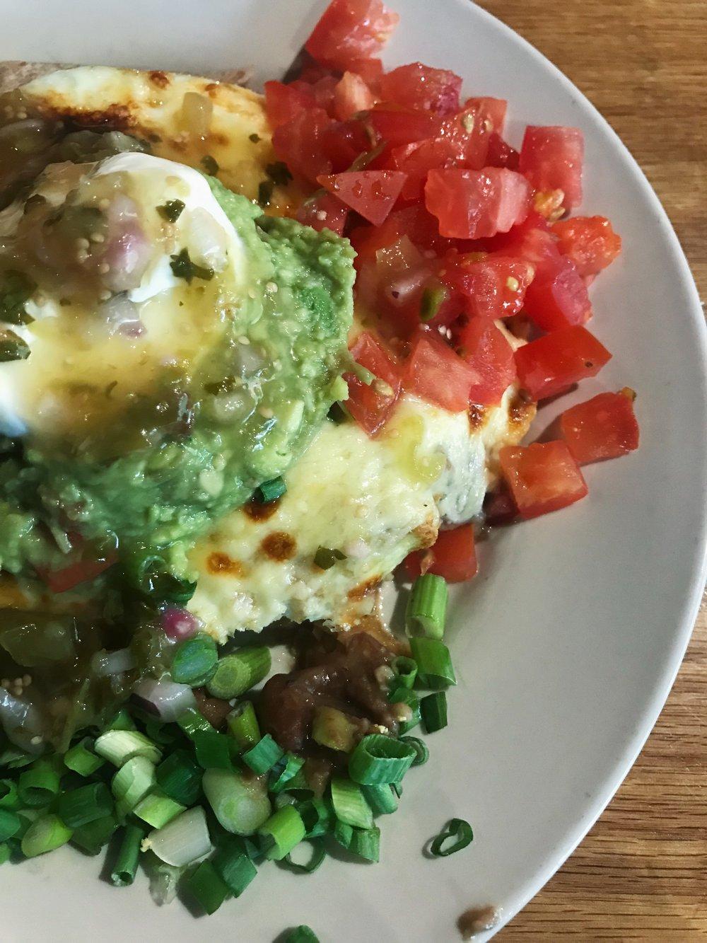 Pictured is a Seva original dish; eggs veracruz