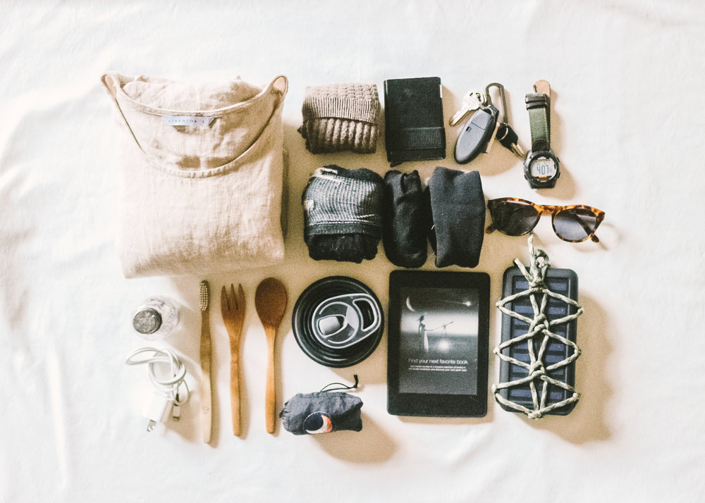 Minimalist travel essentials, photo by  Heal Your Living