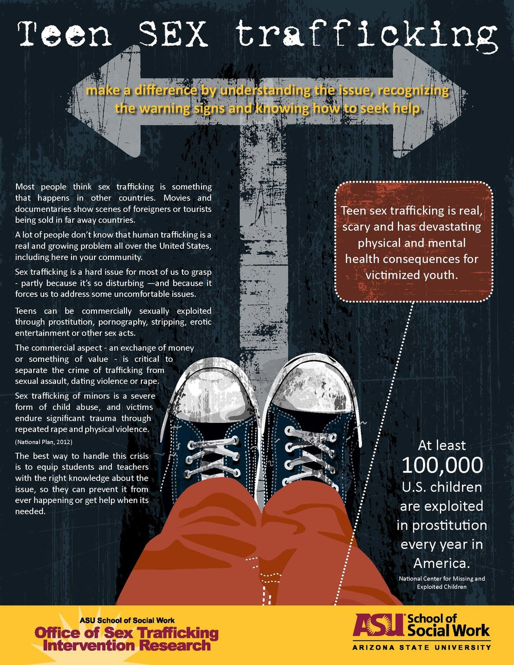 Teen Sex Trafficking Awareness Training Brochure