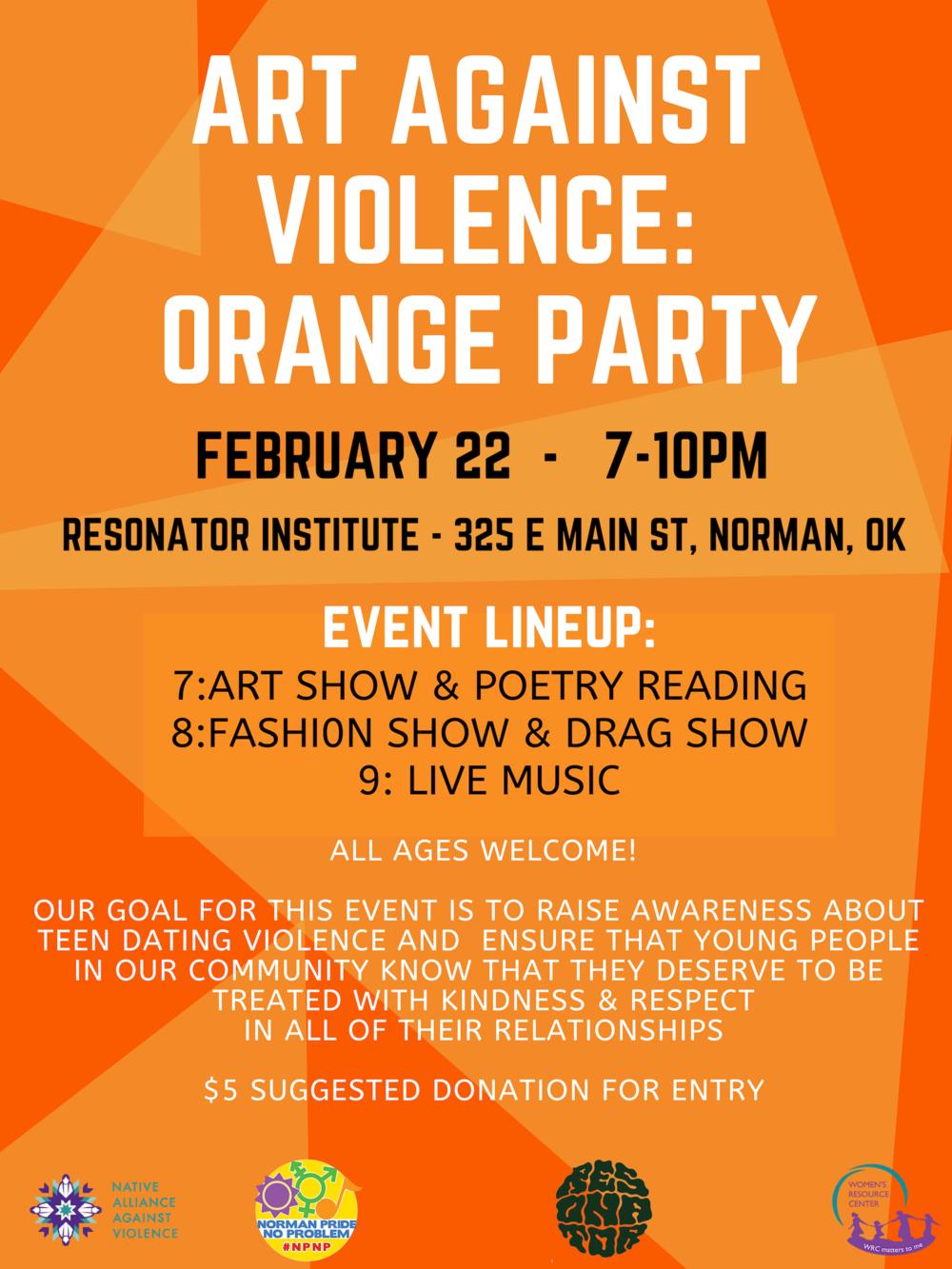 Art Against Violence: Orange Party