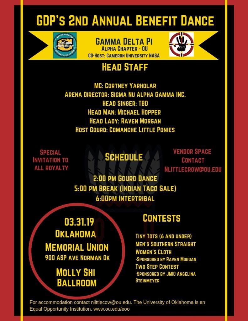 Gamma Delta Pi - OU 2nd Annual Benefit Dance
