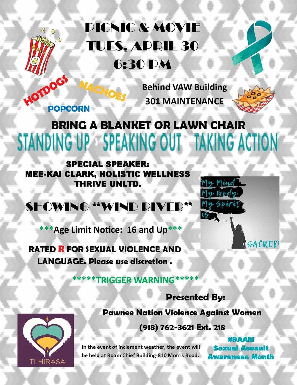 TiHirasa Pawnee Nation Sexual Assault Awareness Month