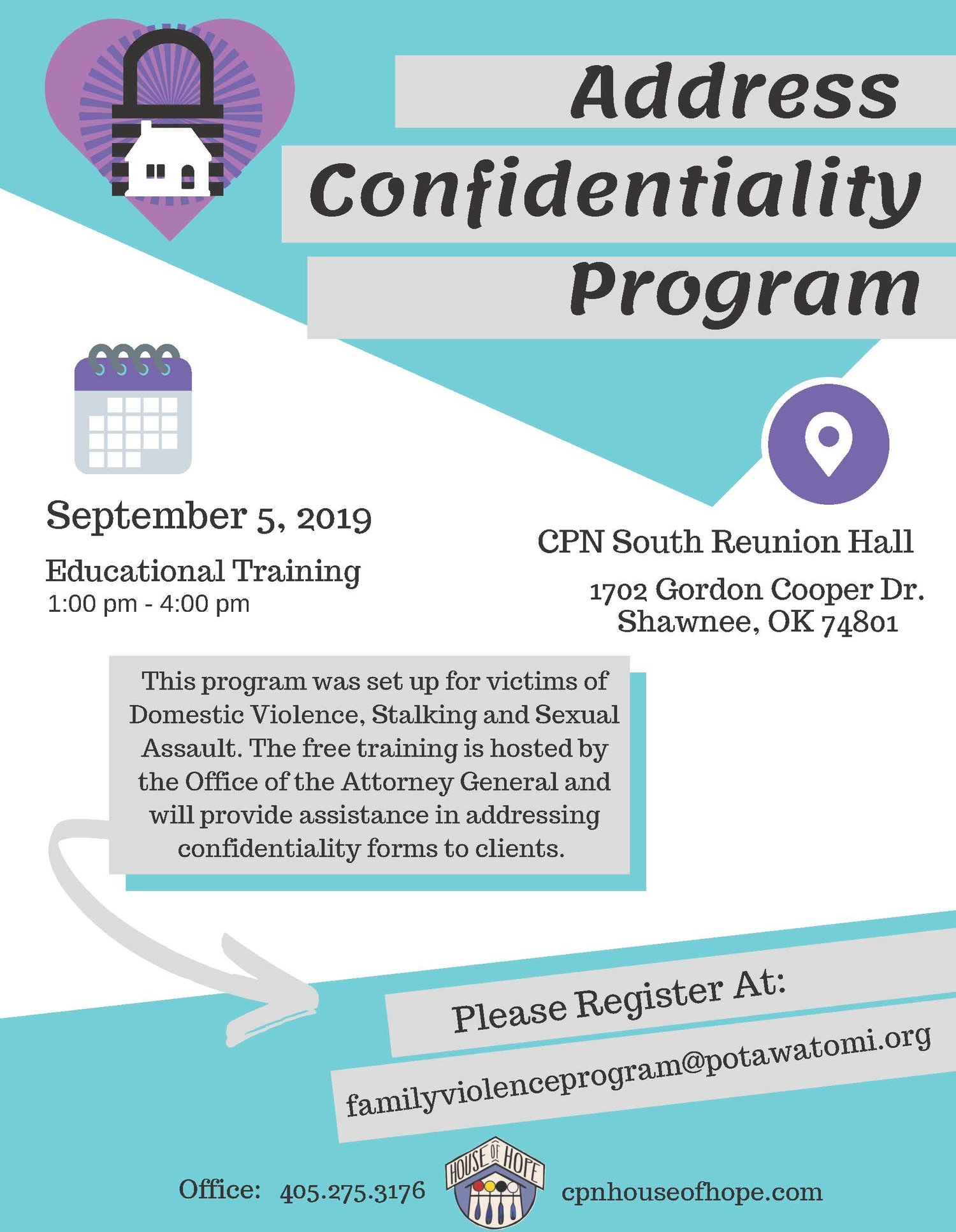 Address Confidentiality Program Training- Citizen Potawatomi