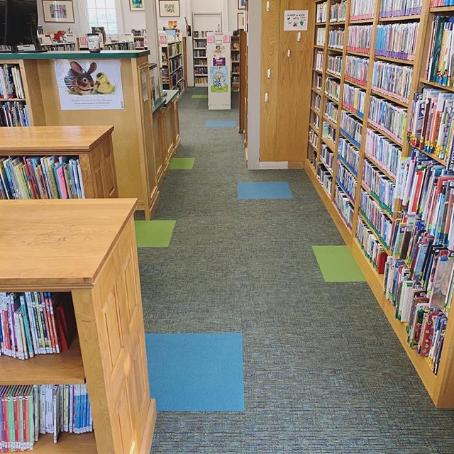 Spring is the perfect time for a library renovation! 💐 Finishing up our second one of the season using @mohawkgroup carpet tiles and LVT. New flooring really brightens up the whole space! 🌞