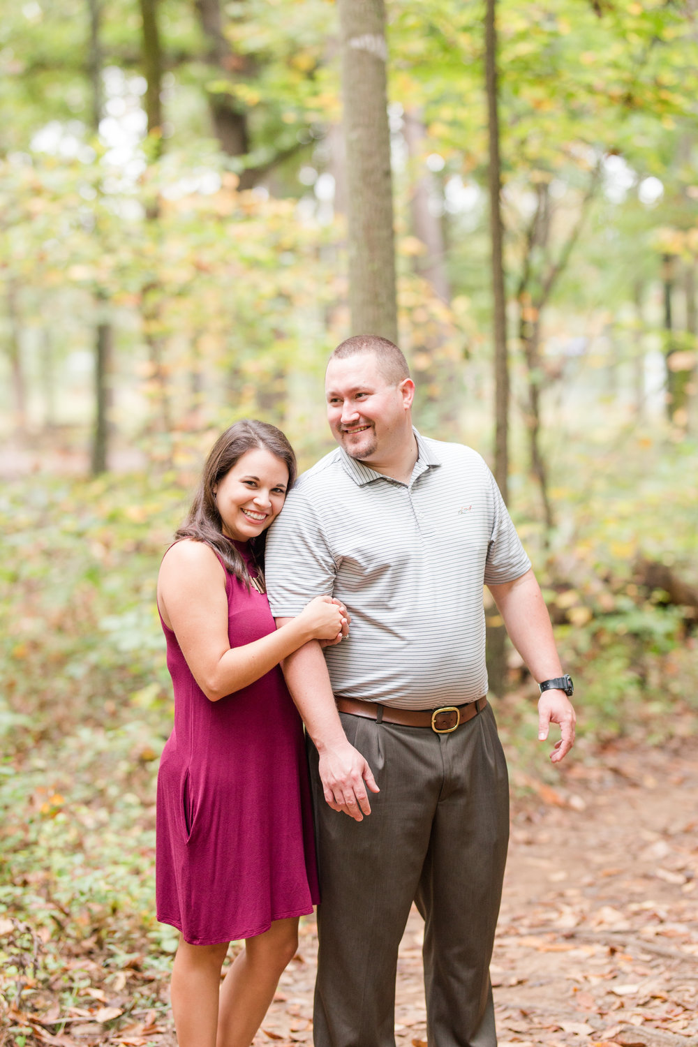 fall forest engagement session warrenton, va