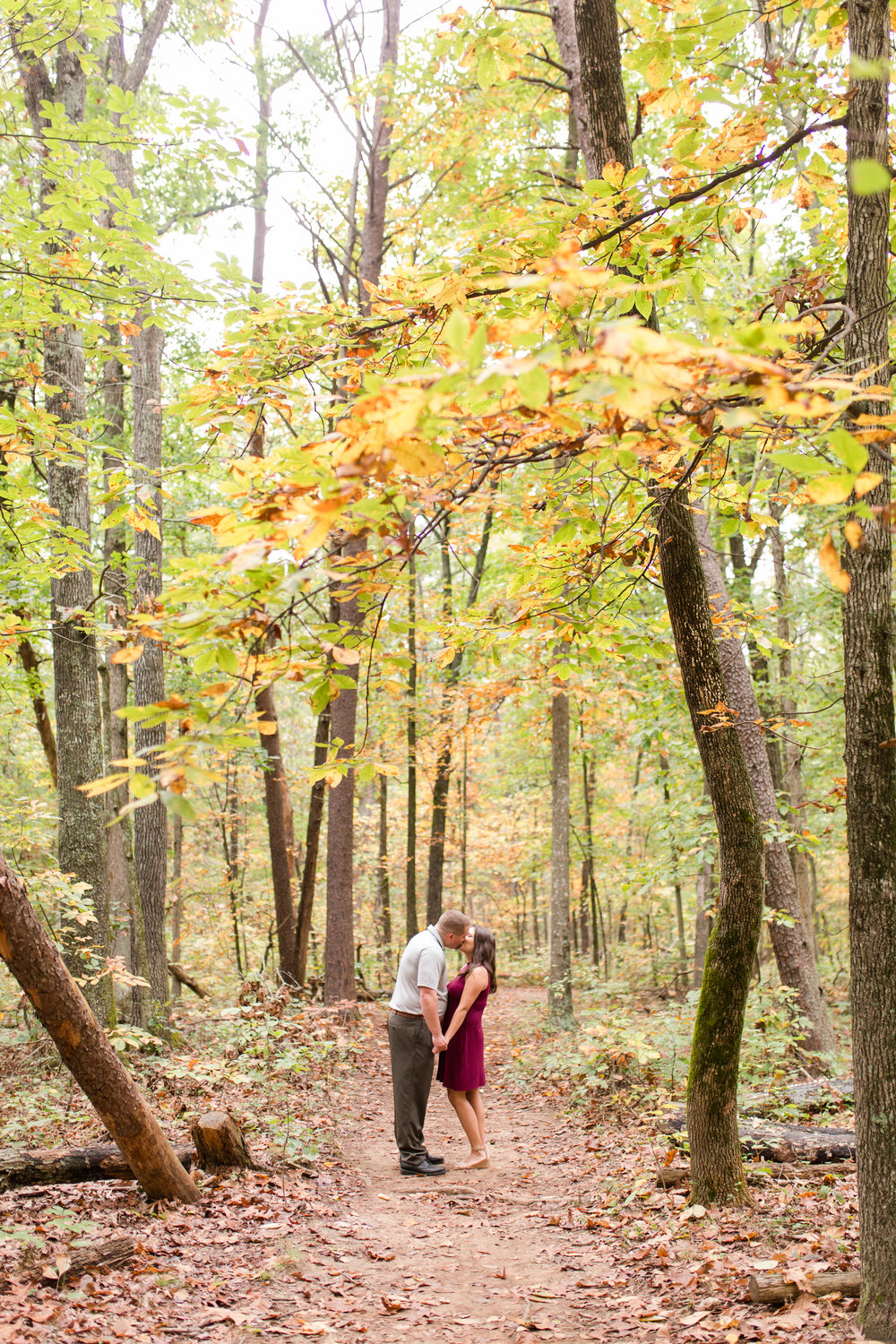 fall forest engagement session, warrenton, va