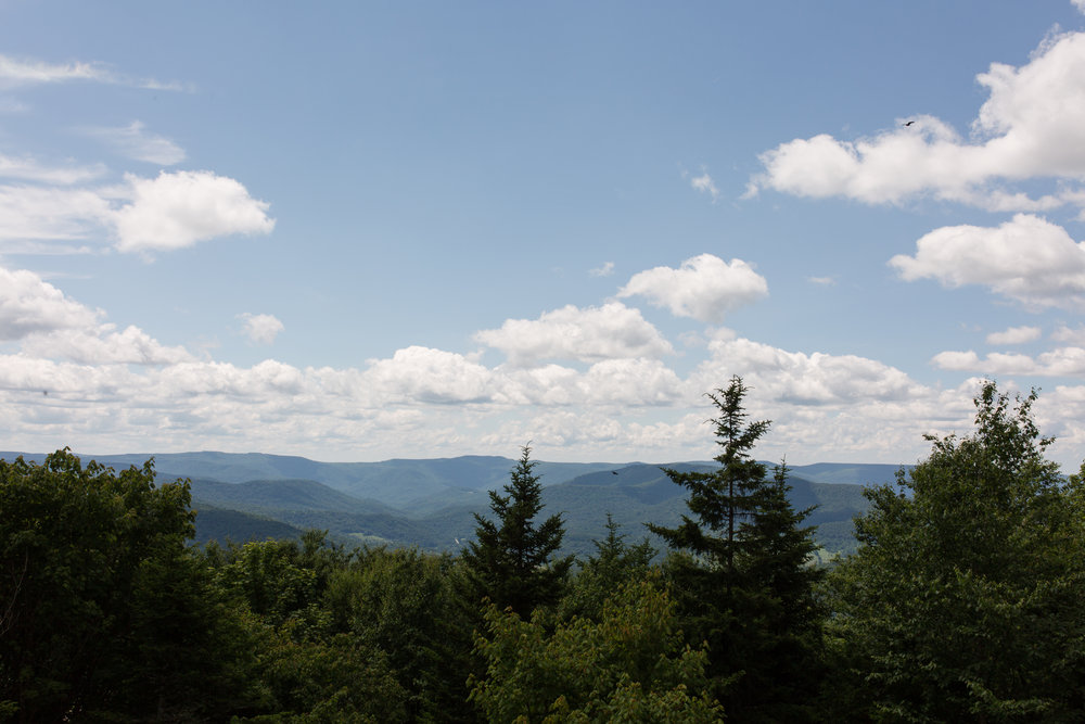 summertime view at snowshoe mountain