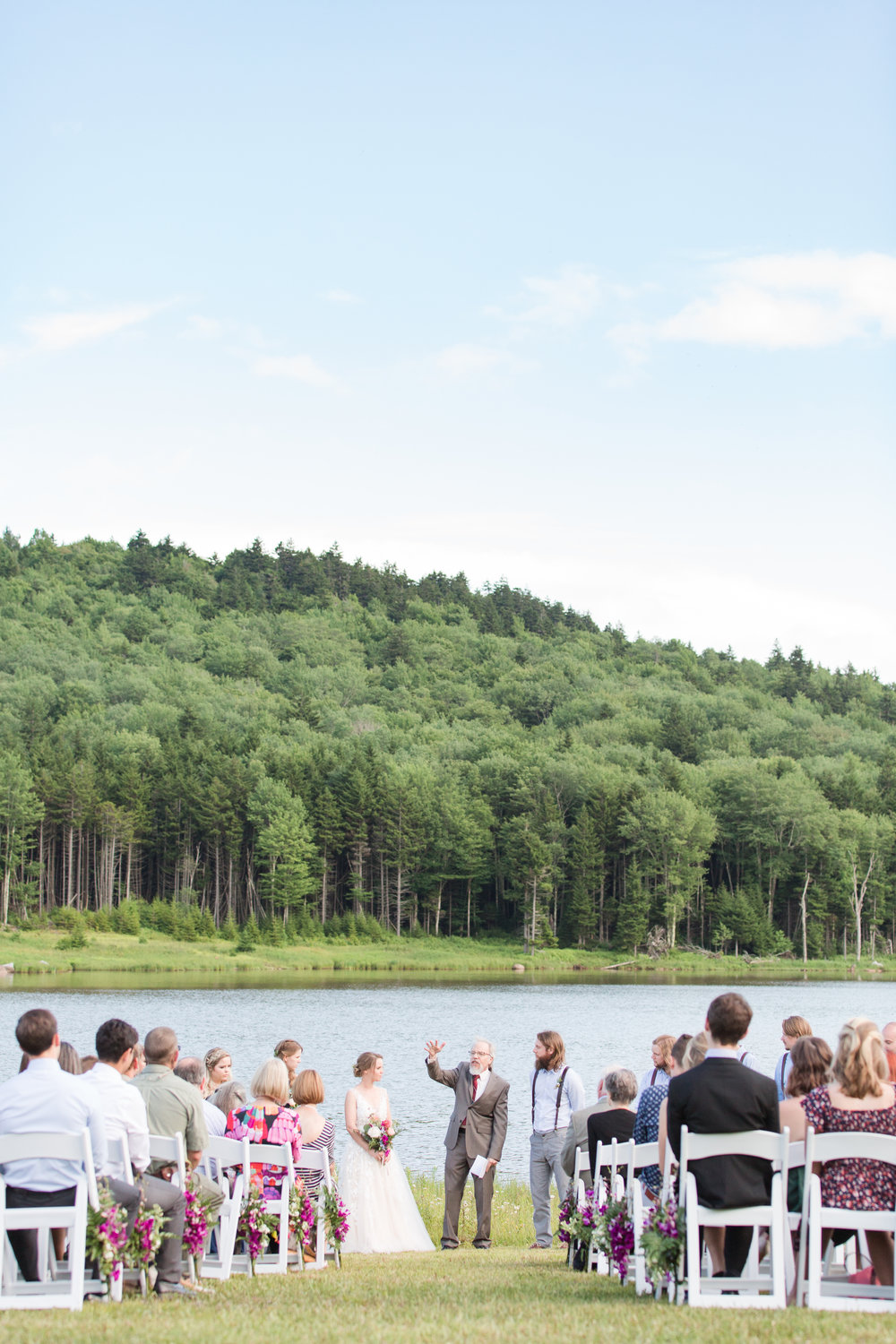 authentic genuine wedding photography in wv- lakeside mountain ceremony wedding wv