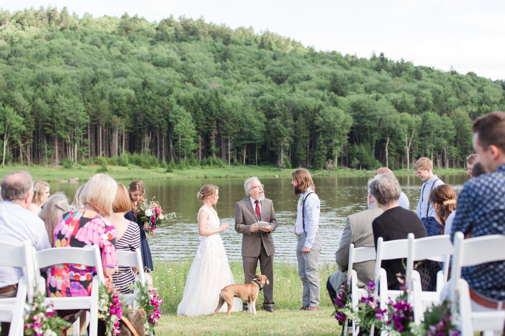 authentic genuine wedding photography in wv - vows- lakeside mountain wedding wv