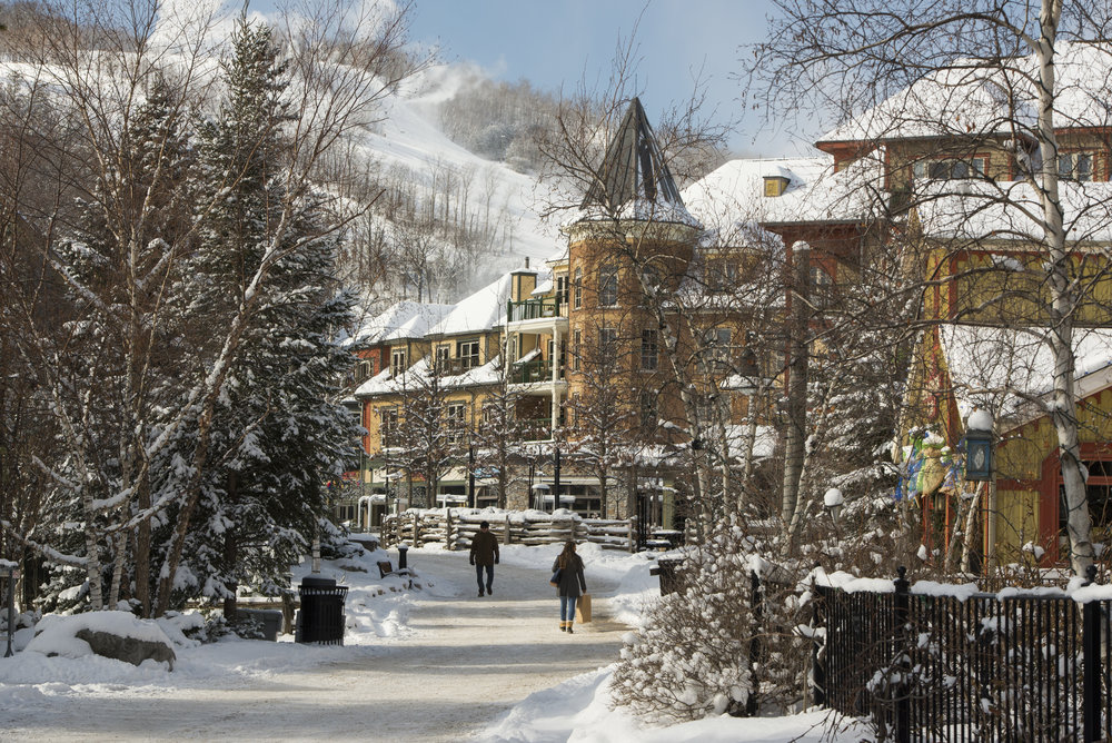 From shopping to eating to winter activities, Blue Mountain Village has something for everyone.  Photo by Andrea Hamlin Photography © Blue Mountain Resort