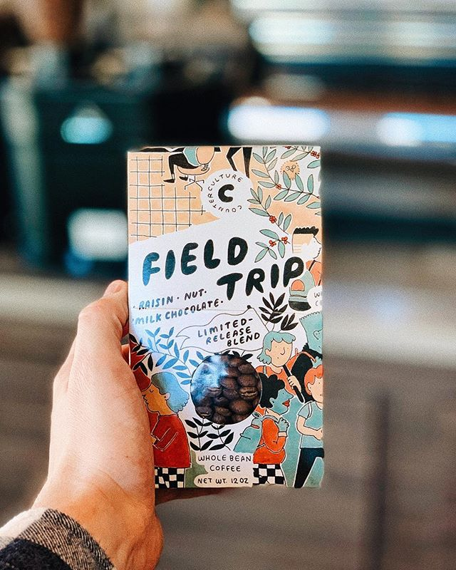 We've got new coffee from our awesome partners at Counter Culture. Take a Field Trip into Spring with flavors of raisin, nut, and milk chocolate. Sounds like a perfect way to start the day. Come in and grab a box before they're gone!
