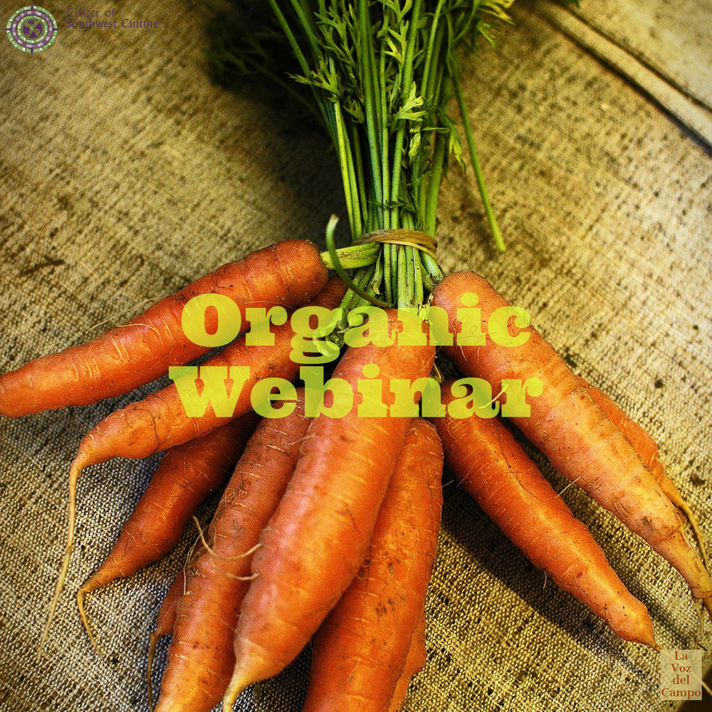 "Webinar - Search 'organic farming' at the USDA's Natural Resources Conservation Service website look for their next ""Organic Webinar"" event to learn more about organic and sustainable agriculture."