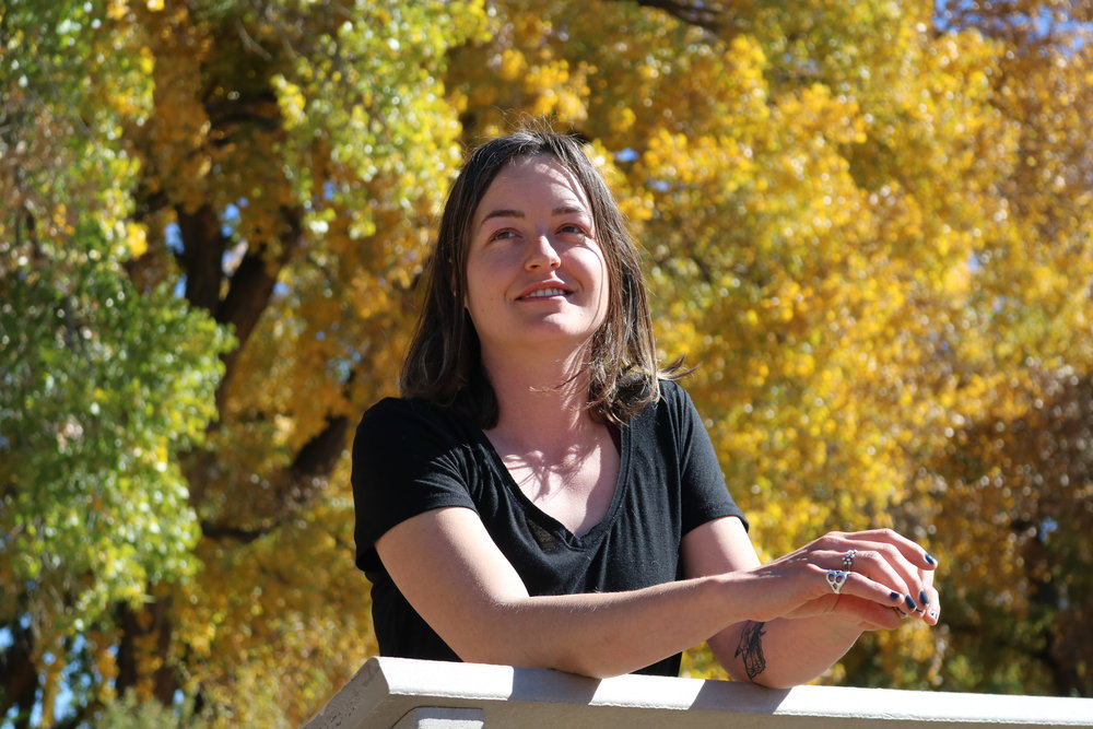 Sarah Helene Dewey - Sarah is a Program Associate at the Center. She is a printmaker, costume designer, and an educator, who grew up in the South Valley. She has worked with youth and families in Albuquerque in several community art settings including National Hispanic Cultural Center's Circo Latino and Circo Radical, Harwood Art Center, Arts Adventures at VSA, and Zia Family Focus Center. She worked as lead printer and manager at Kei and Molly Textiles for several years. Sarah has a deep commitment to building community. She is a graduate of the UNM Fine Art Department and serves on the board of Off Center Arts.