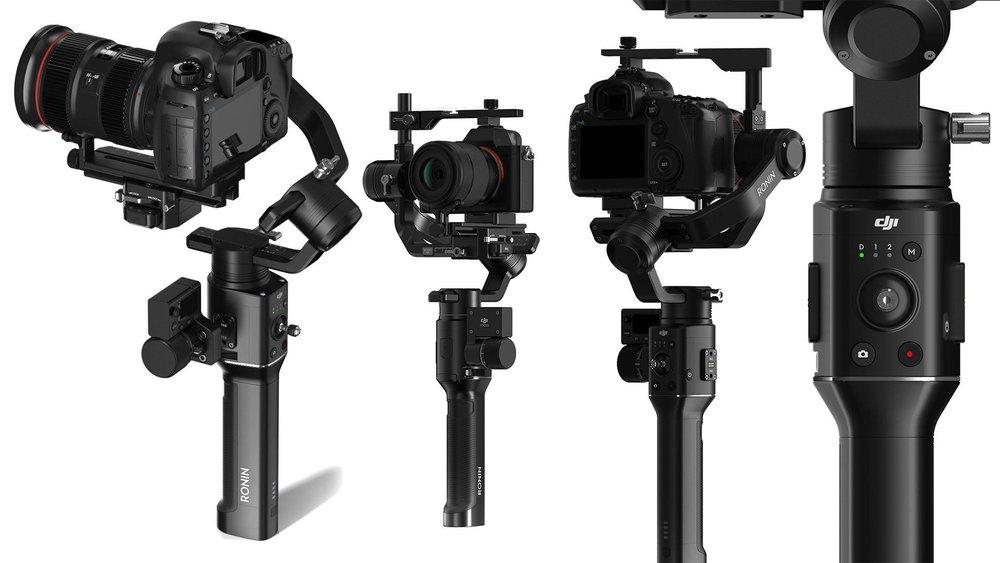 "DJI RONIN-S - DJI Ronin-SWireless Focus Nucleous-NSmall HD Focus 5""Dual Grip HandlePowerbank Charger"