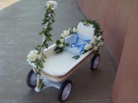 Blue-DIY-Wedding-children-s-wedding-wagon