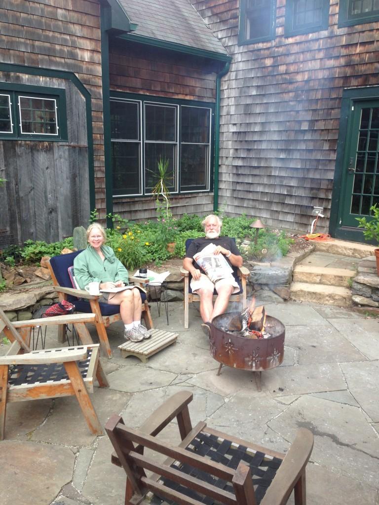 Fran and Sam, our lovely hosts at Alder Brook Cabin