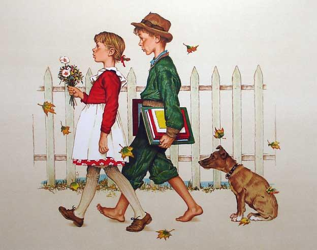 Norman_Rockwell_School_Walk