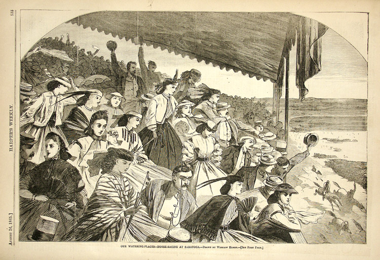 Winslow Homer drawing from August 1865 Harper's Weekly