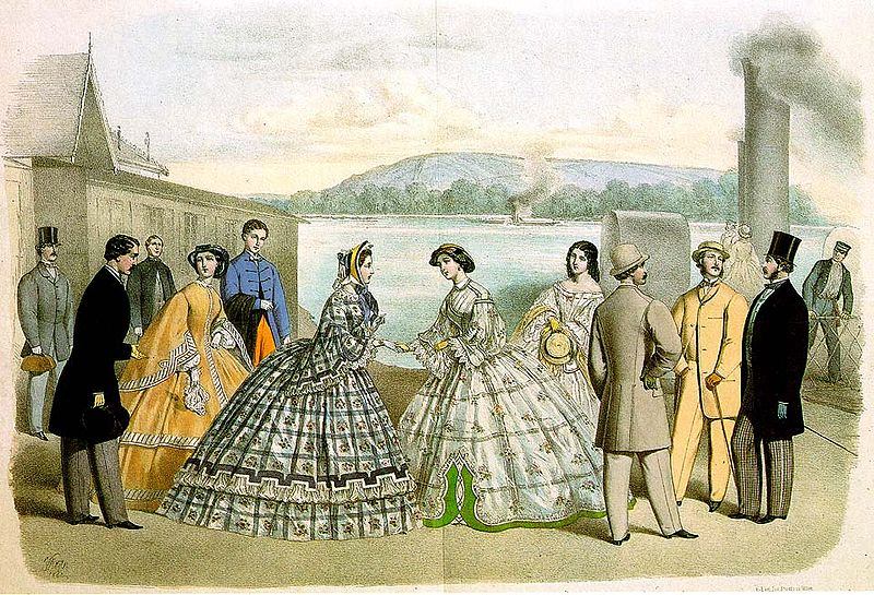 fashions in the 1860s