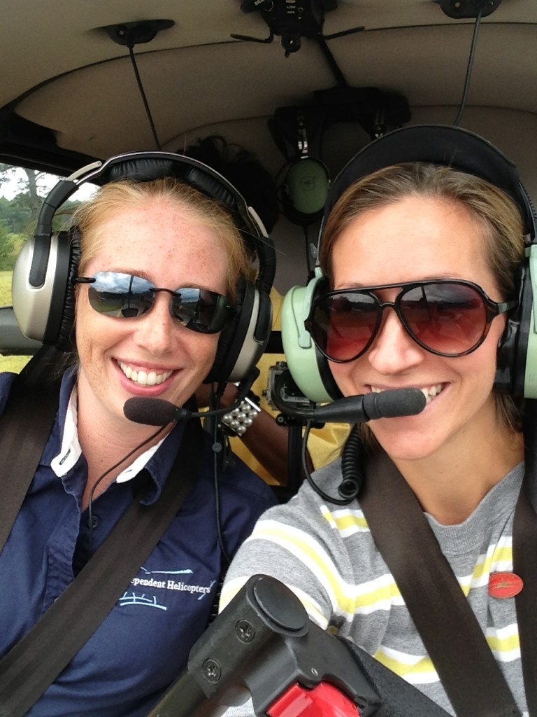 me and Heather up in the skies