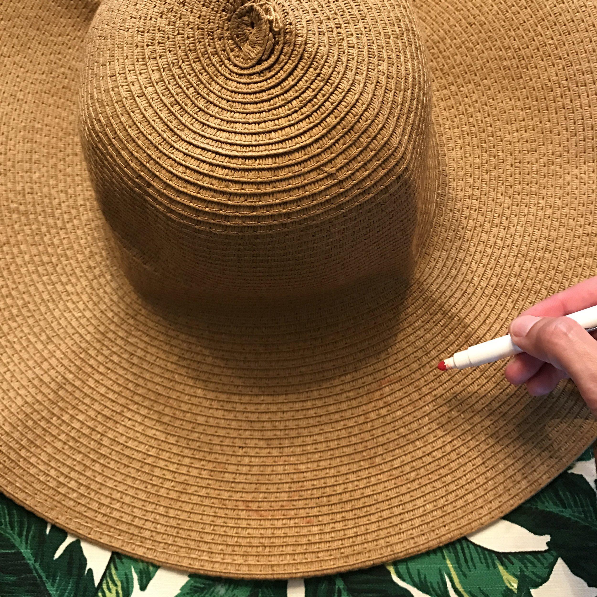 dd5ed79a85e16 DIY Personalized Sun Hat — mamatoga