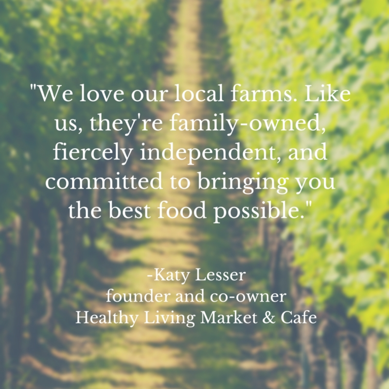 _We love our local farms. Like us, they're family-owned, fiercely independent, and committed to bringing you the best food possible._(1)
