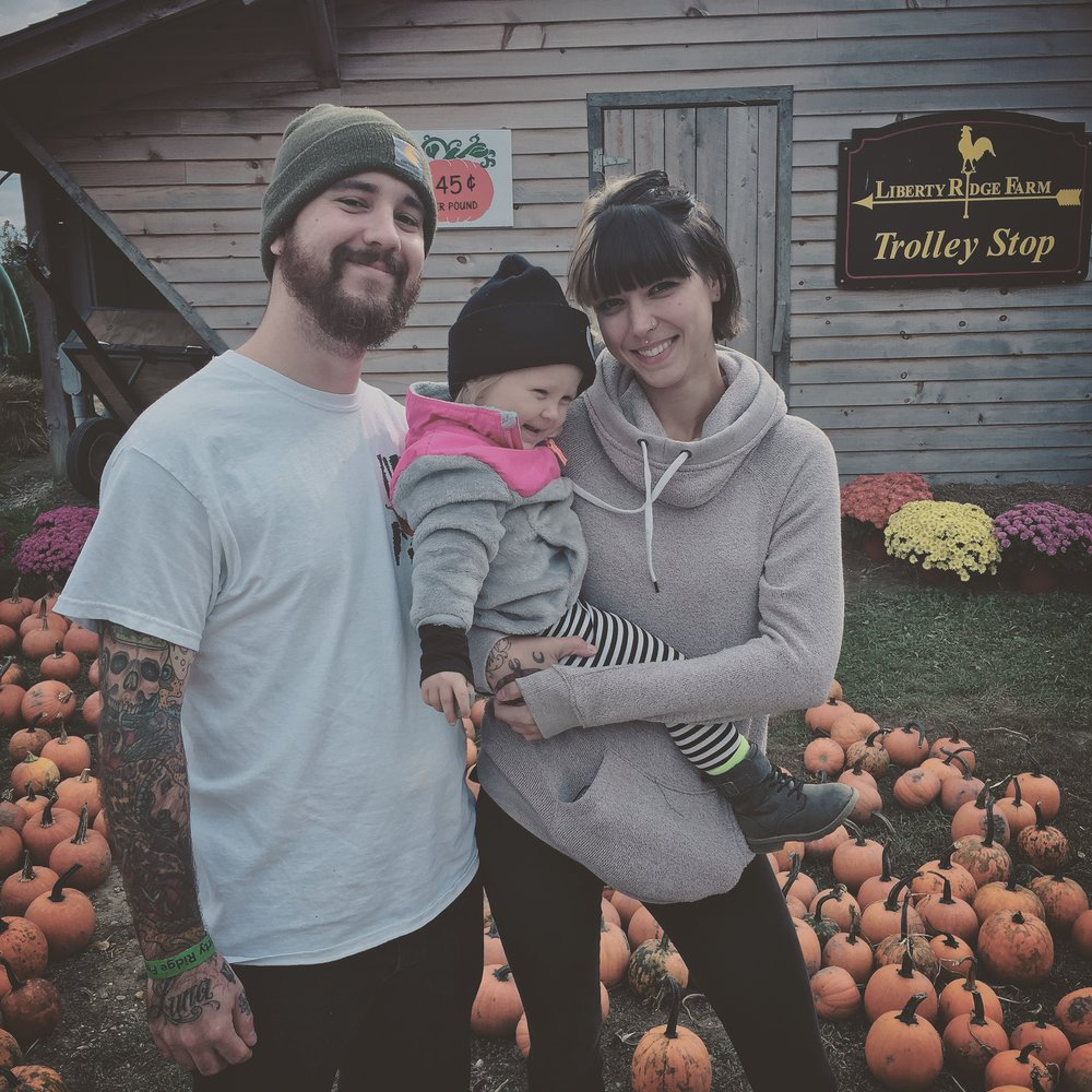 Leah with daughter Luna Nyx and husband Matt