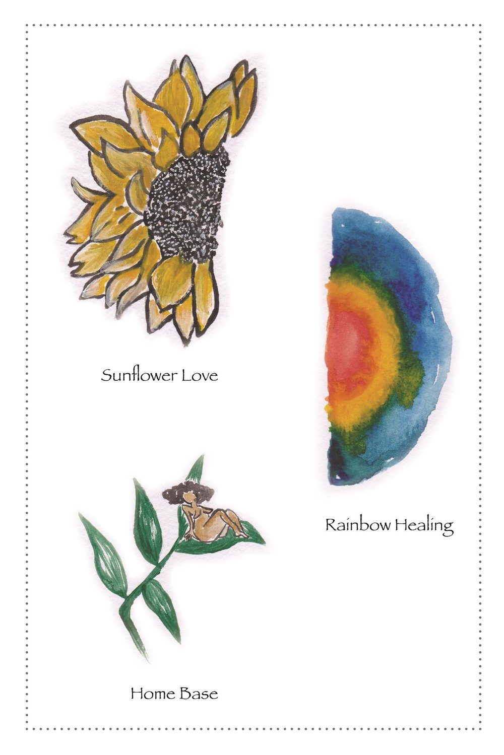 SUNFLOWER LOVE & RAINBOW HEALING & HOME BASE300.jpg